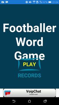 Footballer Word Game poster