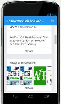 Follow WexFair on Facebook poster