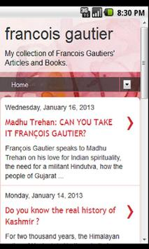 Francois Gautier apk screenshot