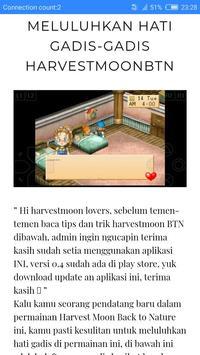 Free Harvestmoon BTN Walkthrough apk screenshot