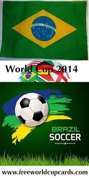 Free World Cup cards poster