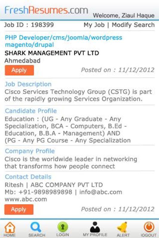 fresh resume job portal app apk download free communication app