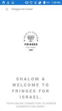 Fringes for Israel poster