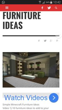 Furniture Ideas for Minecraft apk screenshot