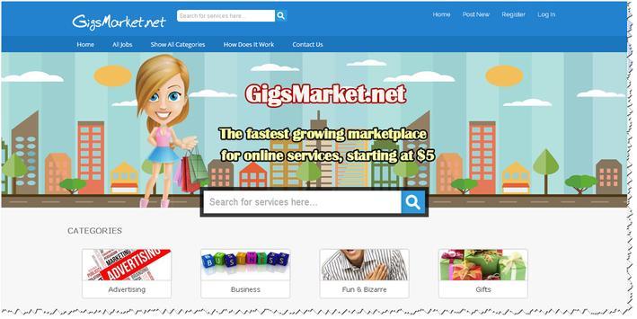 GigsMarket.net Marketplace poster