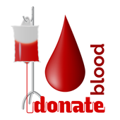 Blood donate online database icon