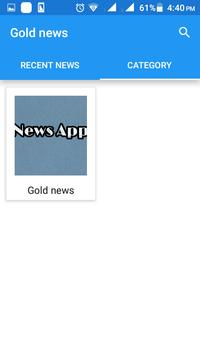 Gold news poster