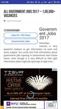 Govt Job Alert Sarkari Naukri screenshot 1