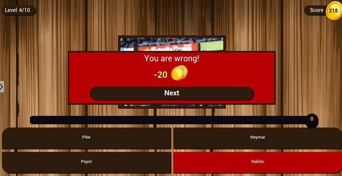 Guess the football player apk screenshot