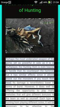 Guide for Monster Hunter World apk screenshot