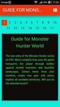 Guide for Monster Hunter World poster