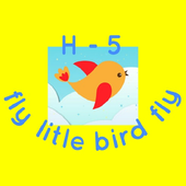 H-5 fly litle bird fly icon