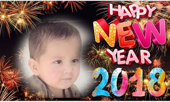 Happy New Year Sticker 2018 poster