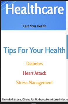 Healthcare Care Your Health apk screenshot
