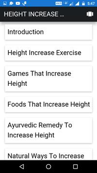 Height Increase Tips screenshot 1