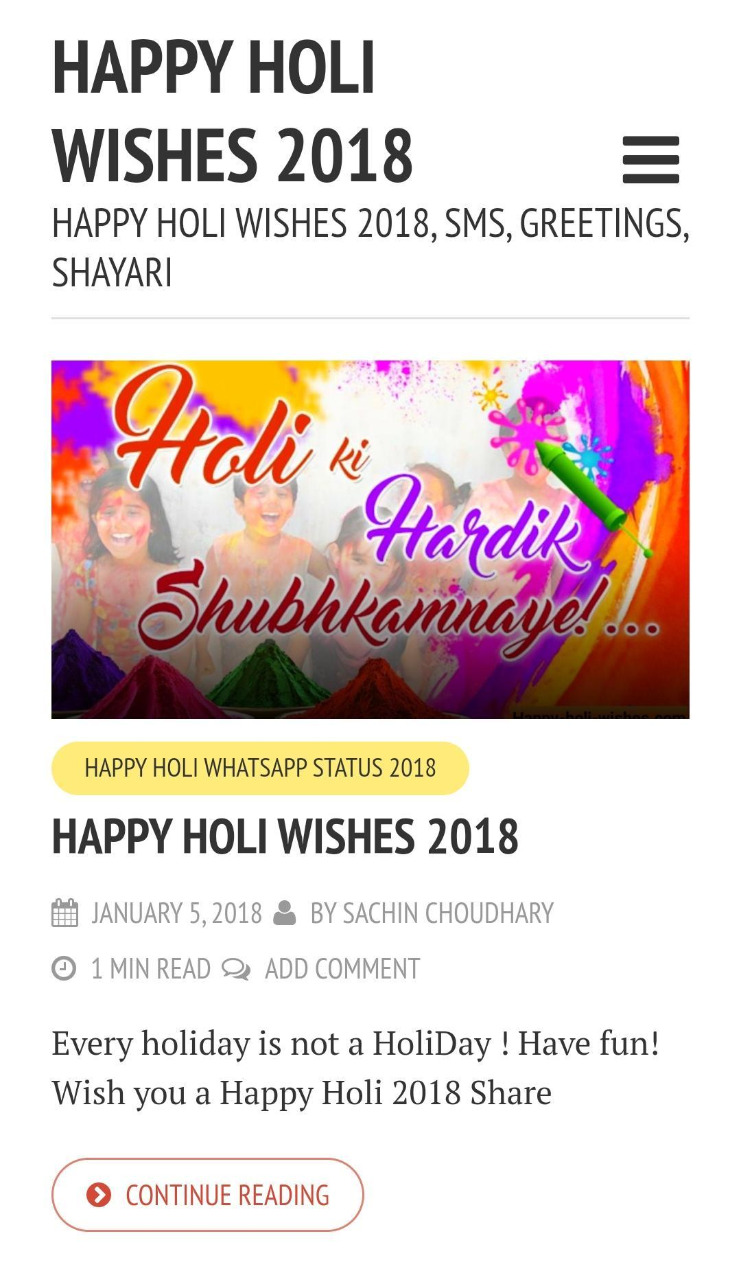 Holi Whatsapp Status 2018 For Android Apk Download