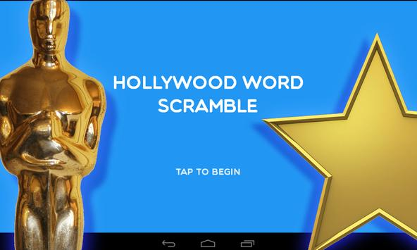 Hollywood Word Scramble poster