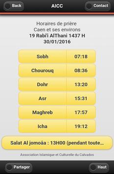 Horaires des prières à Caen poster