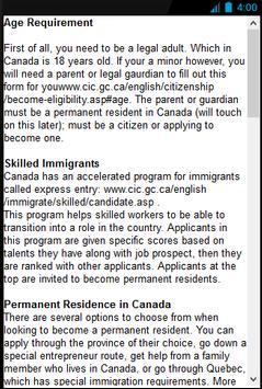 Become a Candian Citizen apk screenshot