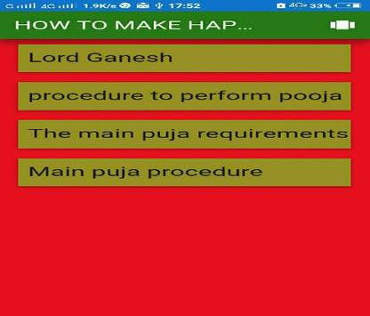 How to make happy to Lord Ganesh apk screenshot