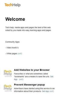 Add Websites to your Browser apk screenshot