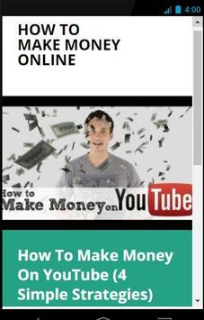 How To Make Money On YouTube poster