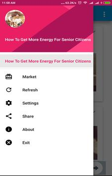 How To Get More Energy For Senior Citizens poster