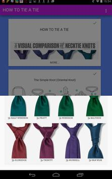 How To Tie A Tie Free screenshot 1