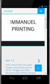 Immanuel Printing poster