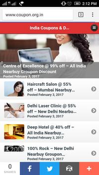 India Coupons & Deals poster