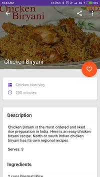 India Food Recipe apk screenshot