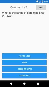 Indian Java Quiz screenshot 1