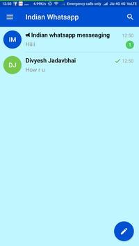 Indian Messenger - Free Chat App apk screenshot