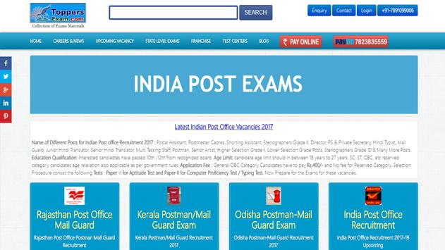 India Post Exam Postman Free Online Mock  Series poster