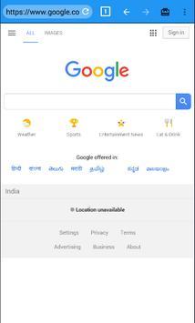 Indian Quick Browser screenshot 1