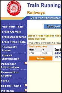 Indian Railways Train Tracking apk screenshot