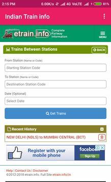 Indian Train Info screenshot 2