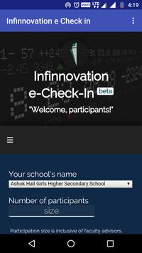 Infinnovation e Check In poster
