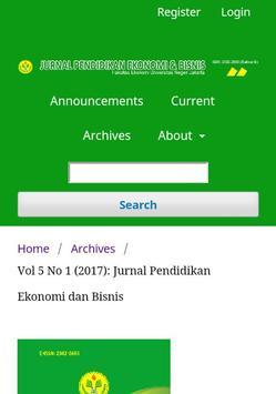 Jurnal Pendidikan Ekonomi & Bisnis (JPEB) apk screenshot