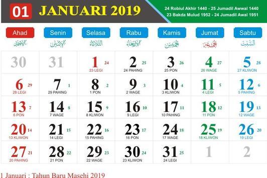 Kalender Nasional 2019 poster