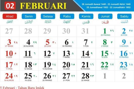 Kalender Indonesia Tahun 2019 poster