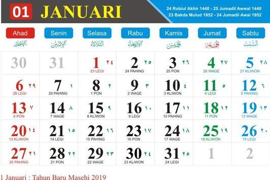 Kalender Indonesia Tahun 2019 screenshot 1