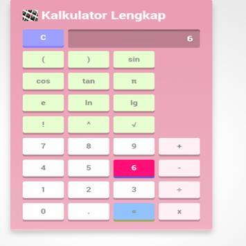kalkulator lengkap poster