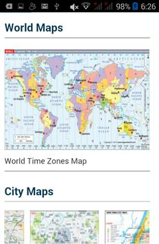 World map. Cities countries poster