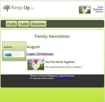 Keep Up Family Newsletter apk screenshot