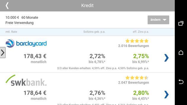 Kredit Vergleich apk screenshot