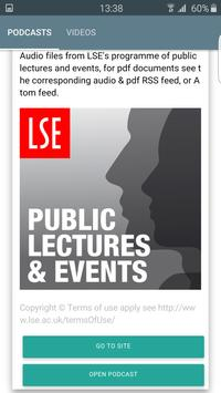 LSE Public Events Podcasts poster