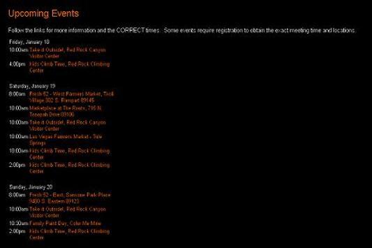 Las Vegas Family Events apk screenshot