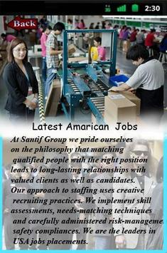 Latest American Jobs poster