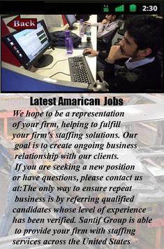 Latest American Jobs apk screenshot